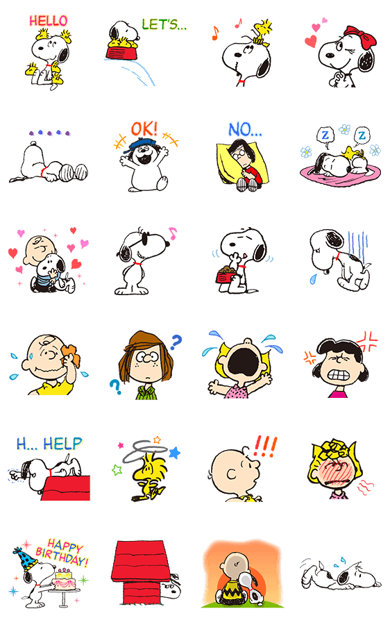 SNOOPY★アニメスタンプ